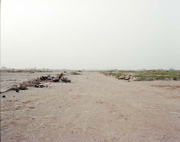 © Antonio Ottomanelli. Yasser Arafat International Airport – landing strip, Gaza City, 2012 (da Collateral Landscapes)