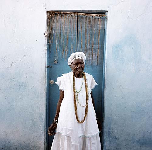 Brazil, Cachoeira, Salvador da Bahia  105 year old Mai Filinha, the Perpetual Judge (eldest member) of the Irmandade da Boa Morte (Sisterhood of the Good Death). © Alfredo D'Amato / Panos Pictures