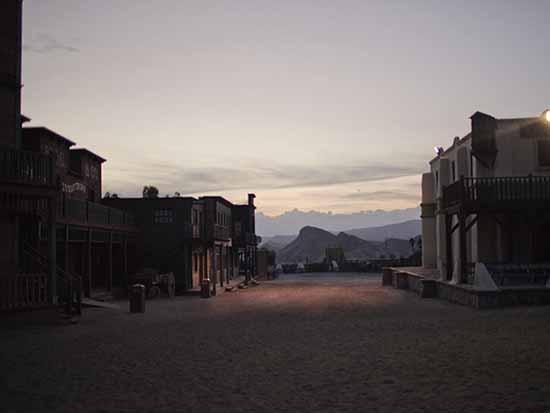 © Alvaro Deprit. Deserto di Tabernas, Almeria, Andalusia, Dicembre 2011. Parco Tematico Western utilizzato da Sergio Leone per suoi film. Courtesy l'autore