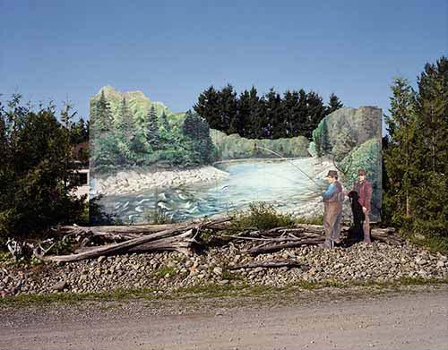 © Beatrix von Conta. Le grand écart – Cascapédia, Musée du saumon Gaspésie, Québec, 2012. Courtesy Galérie Le Réverbère. Lyon