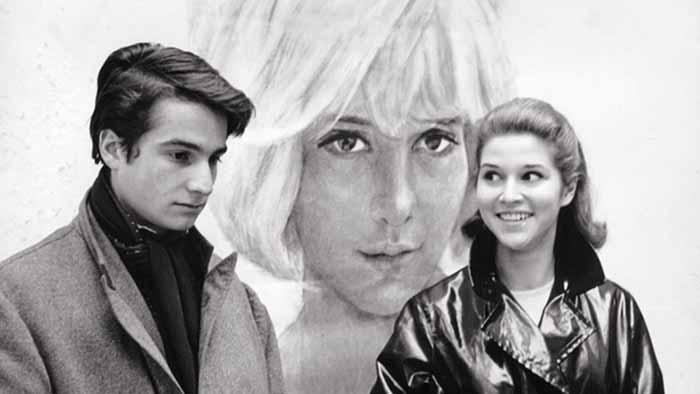 "Jean-Pierre Léaud in ""Masculin féminin"" di Jean-Luc Godard (1966)"