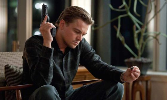 Frame del film Inception di Christopher Nolan