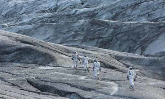 Frame del film Interstellar di Christopher Nolan