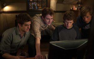 """Frame del film """"The Social Network"""" di David Fincher"""