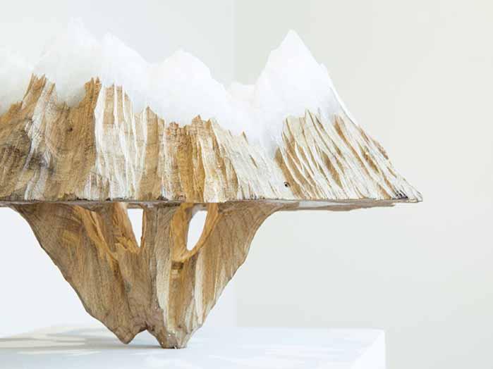 © Kensuke Karasawa, Continuous Horizon Series I N. 5, 2016, Wood and wax, cm h35x45x45, Courtesy of Star Gallery_Viasaterna