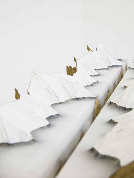 © Kensuke Karasawa, Fertile Vessel No. 1, 2015, Wood and wax, cm h14x20x71, courtesy Star Gallery-Viasaterna
