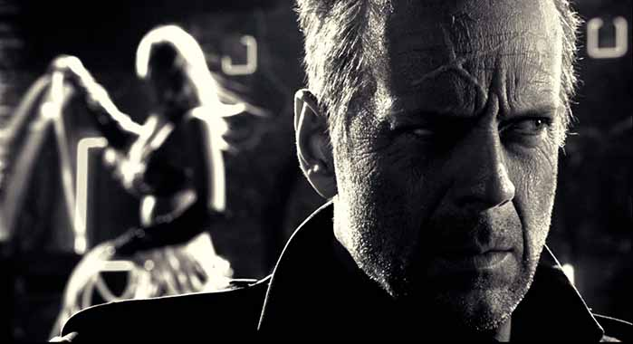 Frame tratto dal film Sin City diretto da Frank Miller e Robert Rodriguez