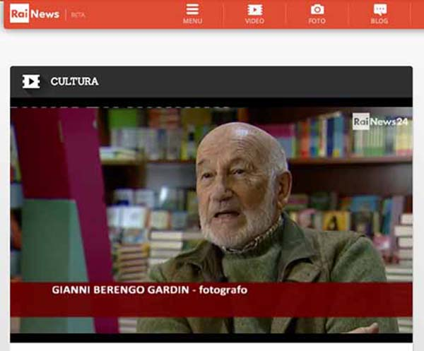 Frame dell'intevista di Gianni Berengo Gardin – da Rai News