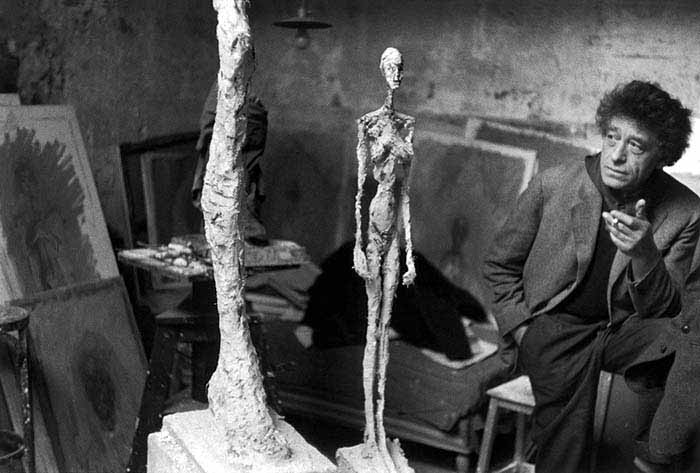 Sculptor Alberto Giacometti in his studio, Paris, France, 1958. © Inge Morath/Magnum Photo/FOTOHOF Archiv