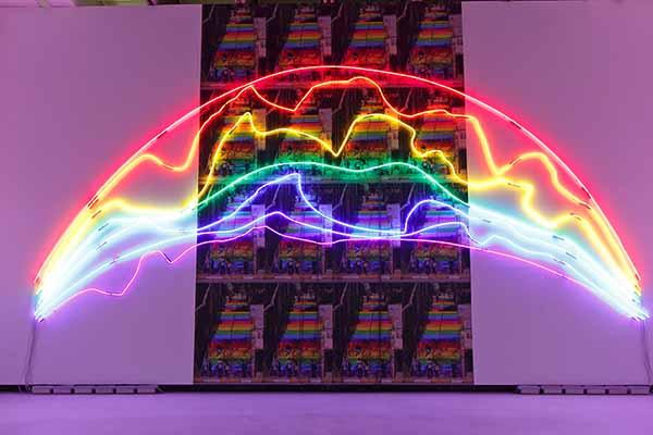 © Sarkis. Two rainbows, 2015. Neon and print 600x900cm. © Sarkis, Adagp, 2015 Paris. Courtesy Galerie Nathalie Obadia Paris/Bruxelles. Photo by Musacchio-Ianniello
