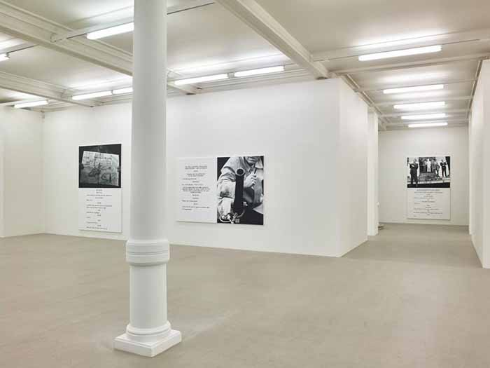 John Baldessari. Pictures & Scripts. Installation view. Marian Goodman Gallery