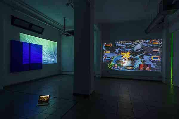 Marco Strappato. Over Yonder. Installation view (basement). Courtesy The Gallery Apart Rome. Photo by Giorgio Benni