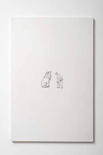 Mariana Ferratto. Dalla serie Esercizi per occhi pigri, Esercizio #8, 2015. Disegno su carta tosa washi intelata, cm 92 x 62. Foto di Giorgio Benni. Courtesy The Gallery Apart, Roma