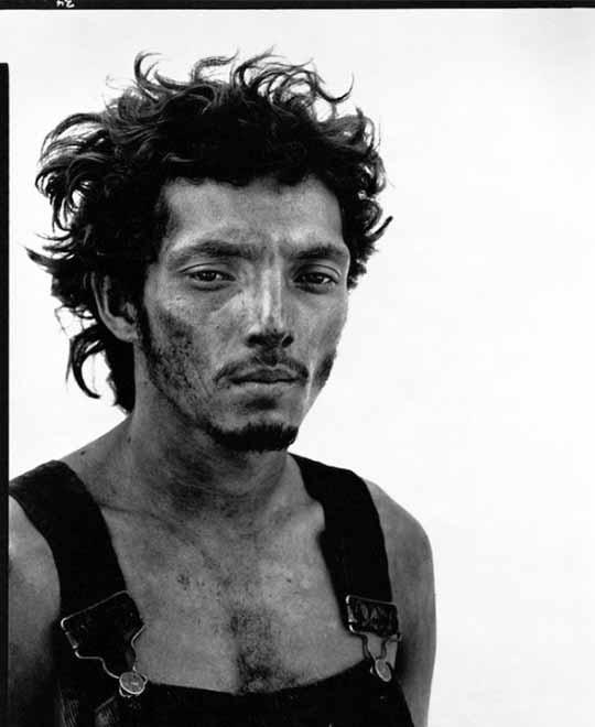 © Richard Avedon. Roberto Lopez. Oil Field Worker. Lyons, Texas. September 28, 1980