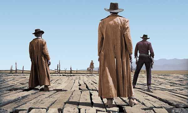 """Frame del film """"C'era una volta il west"""" di Sergio Leone"""