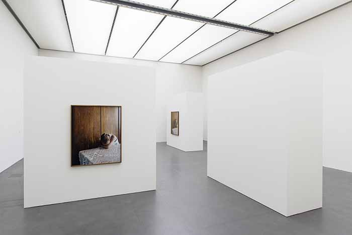 ©  Sharon Lockhart. installation view: Sharon Lockhart. Milena, Kunstmuseum Luzern /  Milena, Jarosław, 2013 2014, three framed chromogenic prints. Courtesy the artist, neugerriemschneider, Berlin, and Gladstone Gallery, New York and Brussels