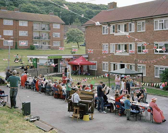 © Simon Roberts. Diamond Jubilee Celebration, Craven Vale Estate, Brighton, 2012. Fujicolour crystal archive print