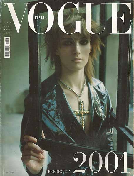 Steven Meisel. Gennaio, 2001. Vestito Versace. Modella Kim Peers