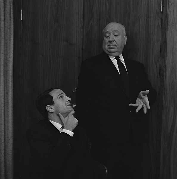© Philippe Halsman. Alfred Hitchcock con François Truffaut. Courtesy Cohen Media Group