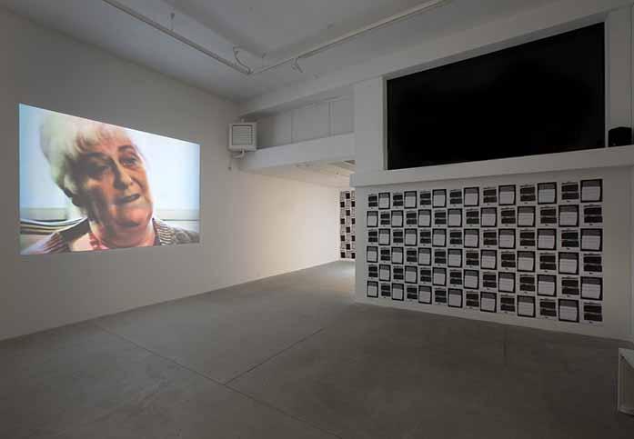 William E. Jones. Installation view, Galleria Raffaella Cortese, Milano. Photo: Lorenzo Palmieri